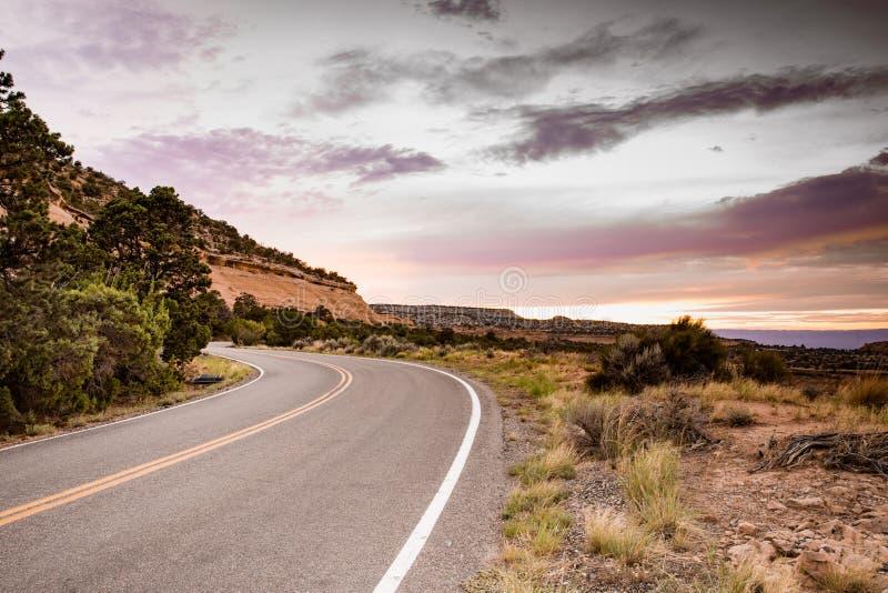 Camino del desierto de la bobina imagen de archivo libre de regalías
