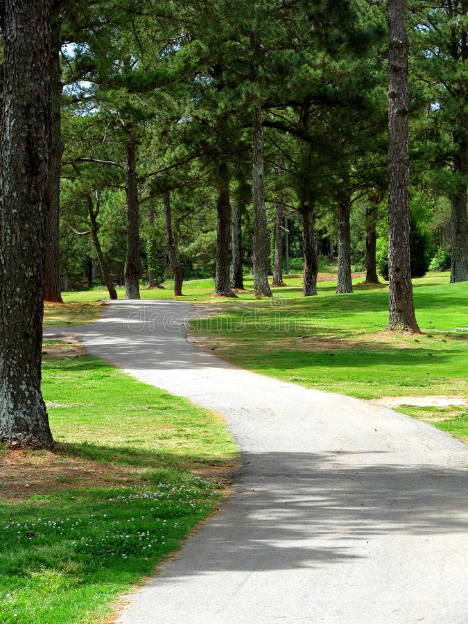 Camino del enrollamiento a través del parque imagen de archivo