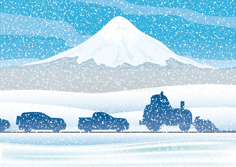 Camino del invierno libre illustration