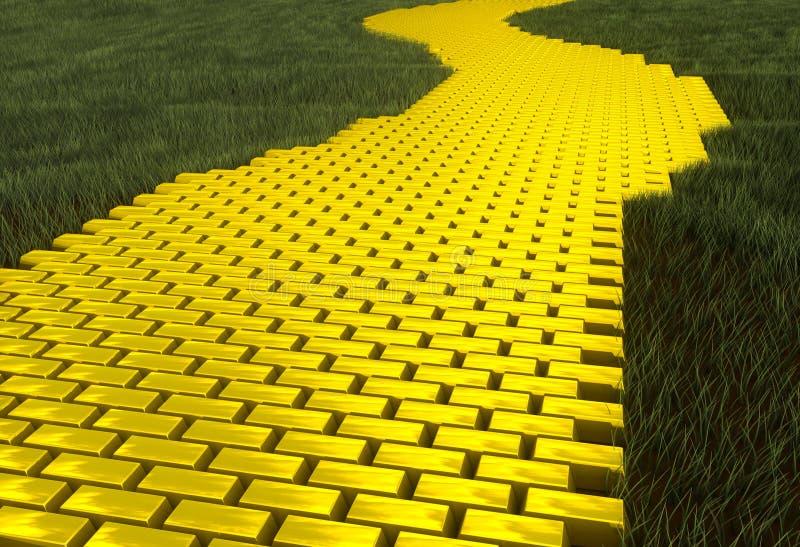 Camino del oro ilustración del vector