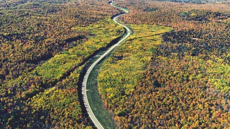 Camino del otoño imagenes de archivo