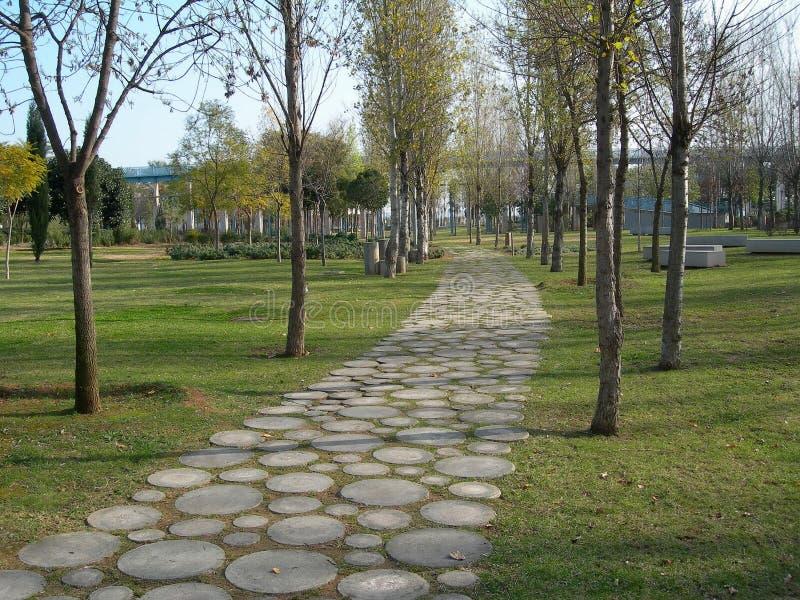 Camino del parque imagen de archivo
