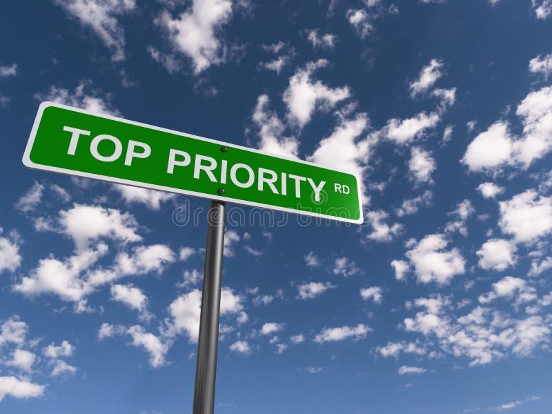 Camino del principal prioridad imagenes de archivo