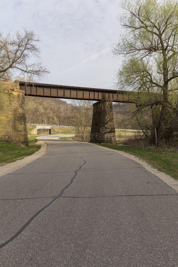 Camino del puente del ferrocarril fotos de archivo