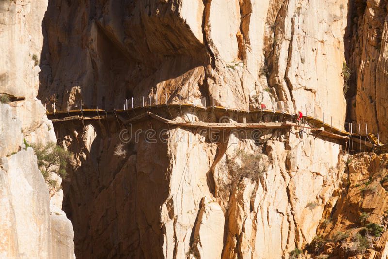 Camino del Rey的重建 图库摄影