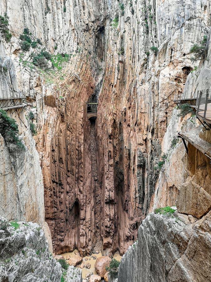 Camino del Rey royaltyfri bild