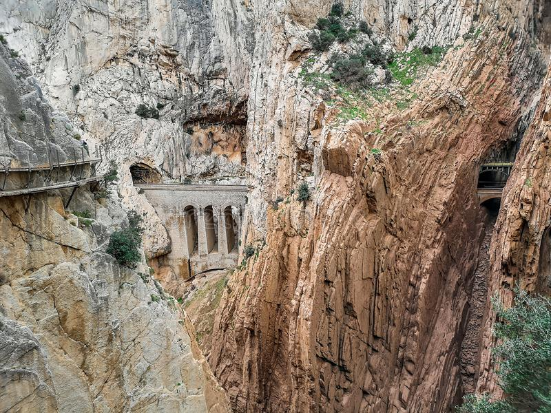 Camino del Rey 库存图片