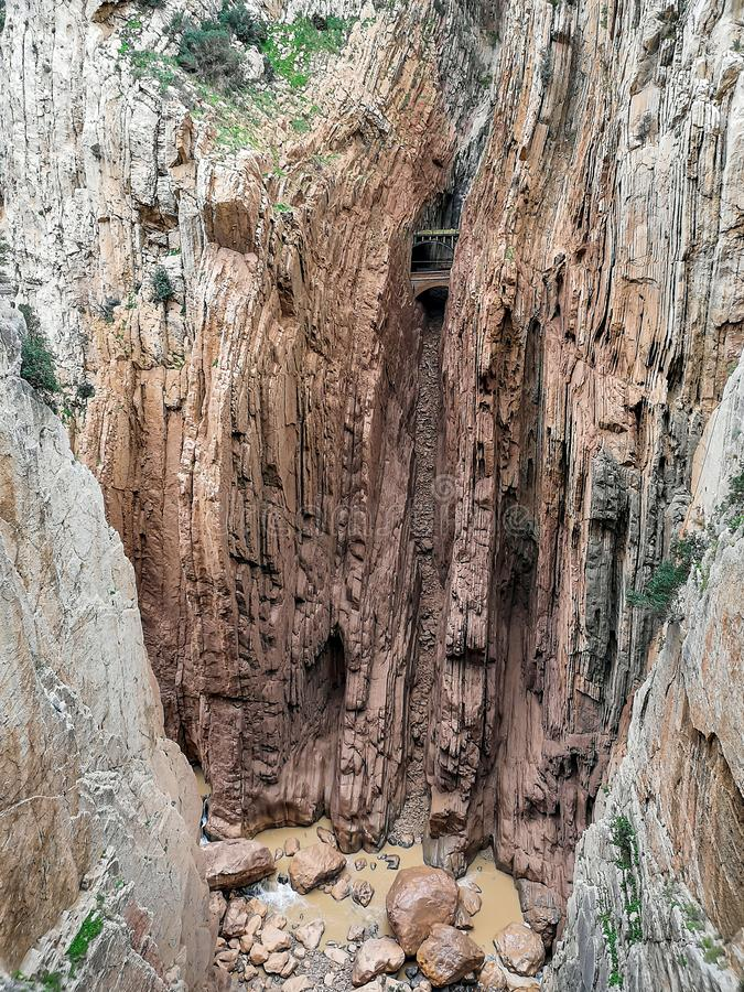 Camino del Rey 免版税库存图片