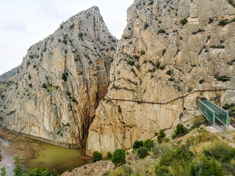 Camino del Rey 库存照片