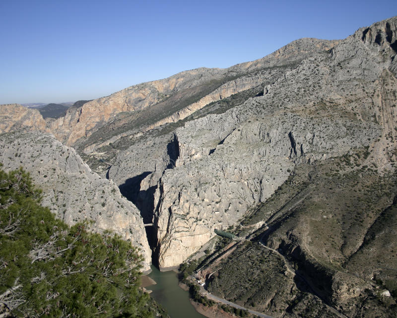 Camino del Rey, Malaga, Espanha imagens de stock royalty free