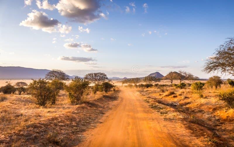 Camino del safari en Kenia foto de archivo libre de regalías