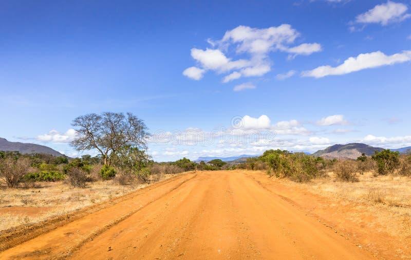 Camino del safari en Kenia imagenes de archivo