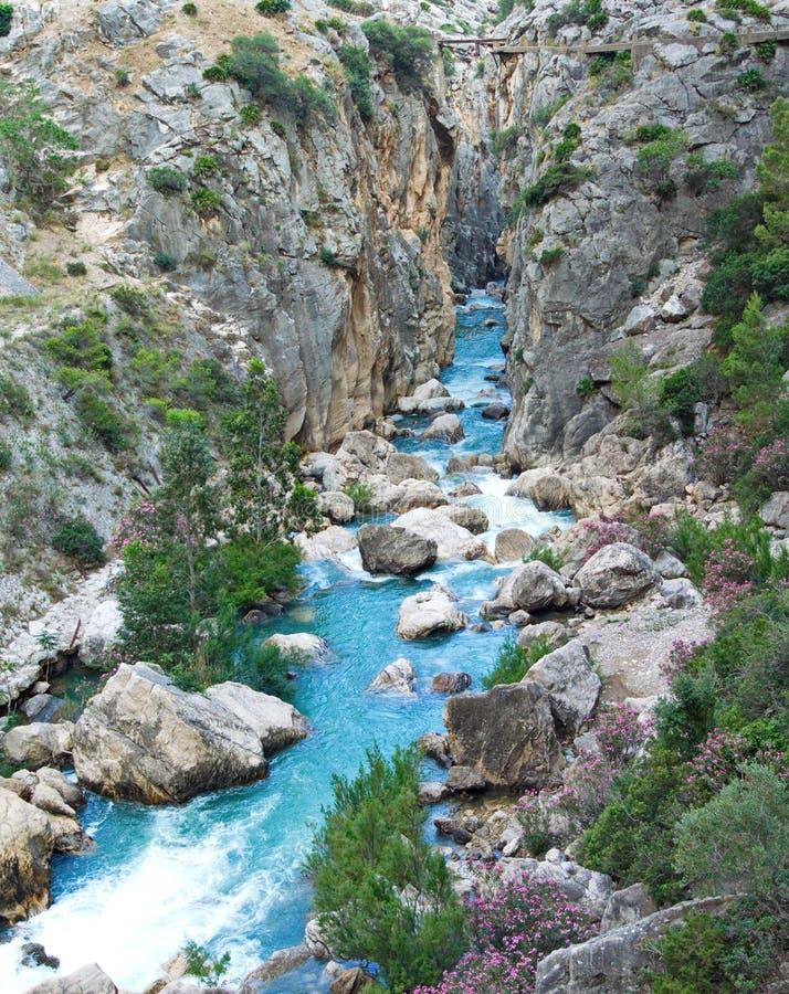 camino del stråle och rio guadalhorce arkivbild