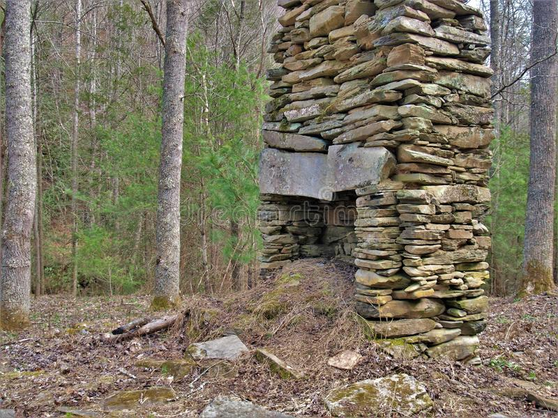 Camino della roccia di vecchia fattoria fotografie stock libere da diritti