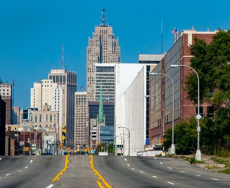 Camino a Detroit céntrica imagenes de archivo