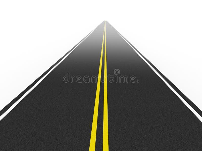 Camino directo ilustración del vector