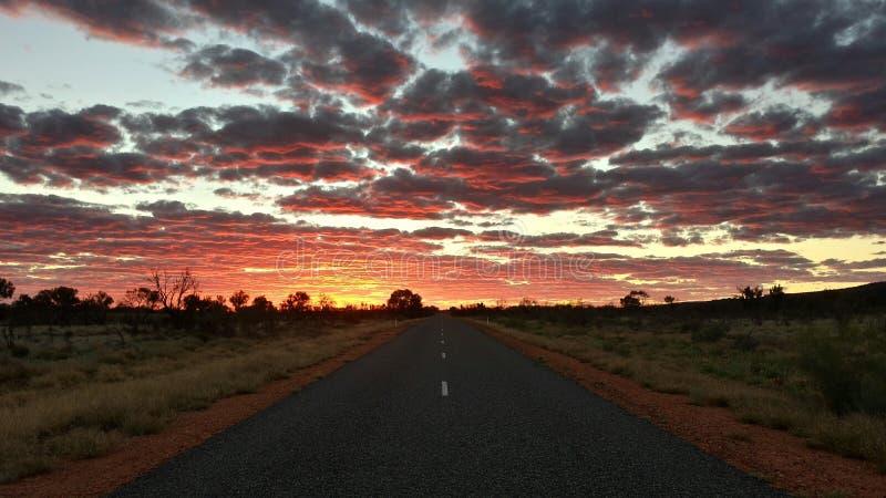 Camino en Australia fotos de archivo