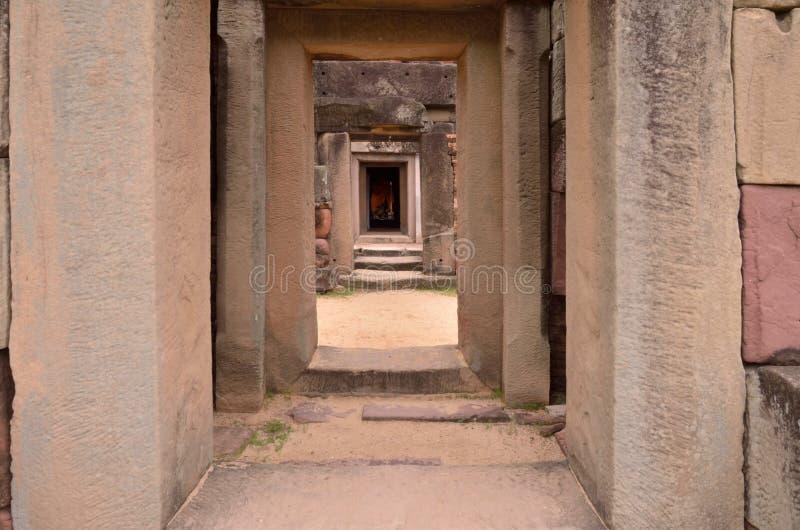 Camino en castillo de la piedra de la arena fotos de archivo libres de regalías