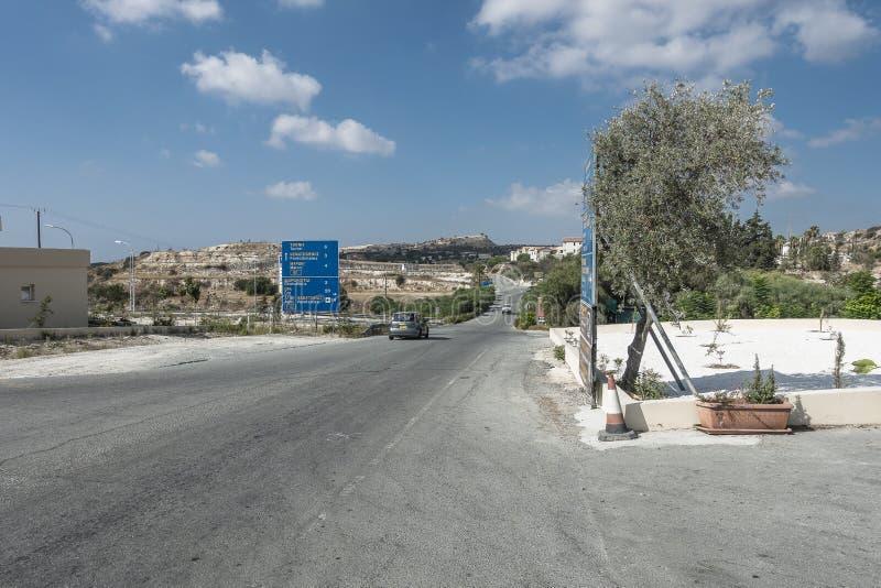 Camino en Chipre imagen de archivo libre de regalías