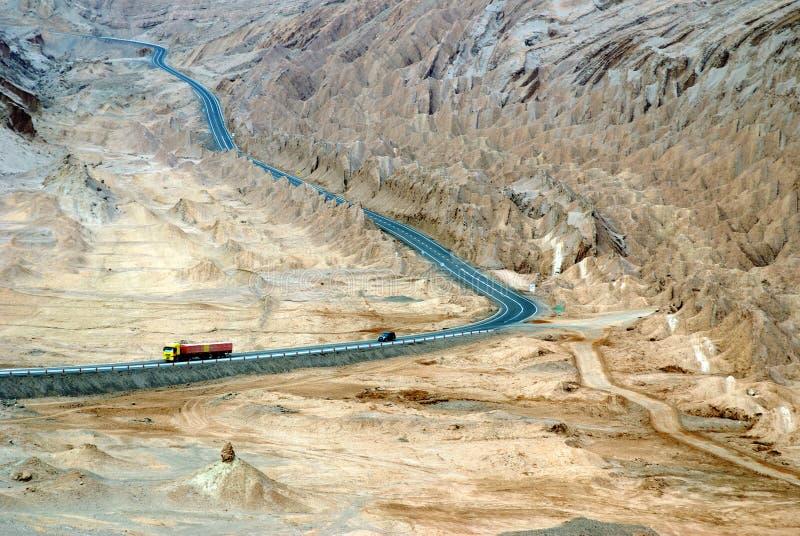 Camino en el desierto, Chile imagen de archivo libre de regalías