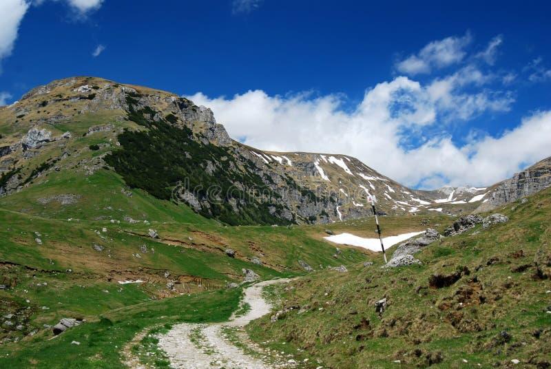 Camino en las montañas imágenes de archivo libres de regalías