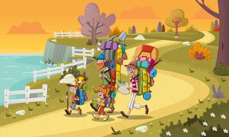 Camino en parque colorido Fondo de la naturaleza libre illustration