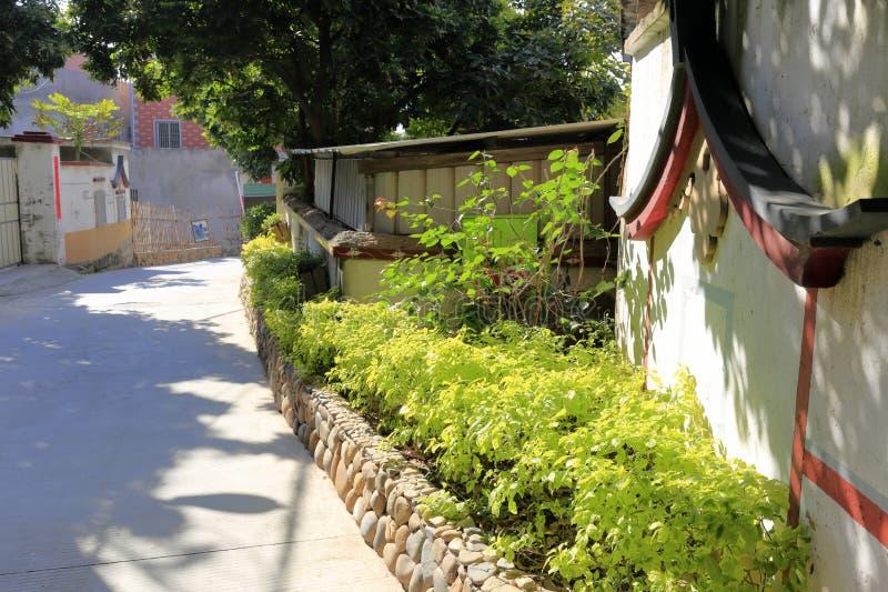 Camino en pueblo del yuanqianshe fotos de archivo