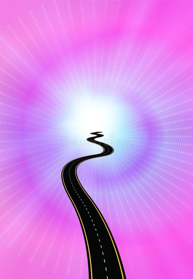 Camino a encenderse ilustración del vector