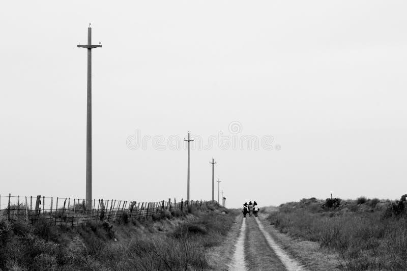 Camino Epecuén 免版税库存照片