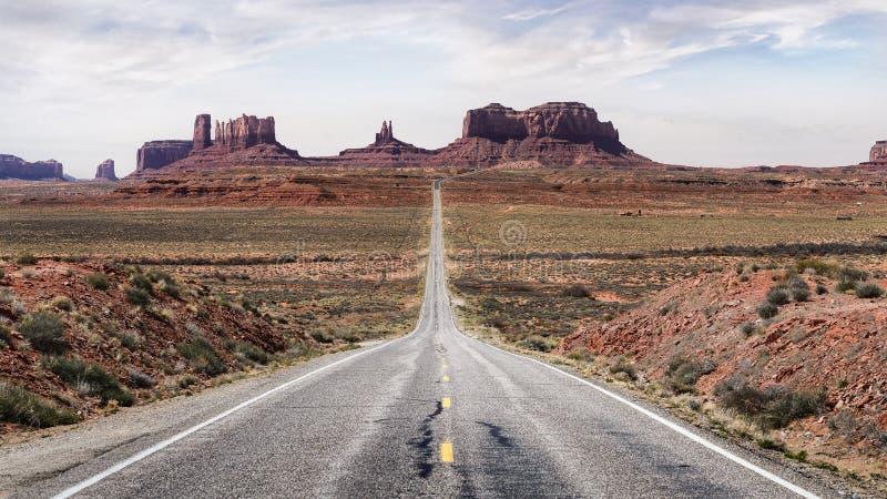 Camino escénico del valle Utah América del monumento fotografía de archivo