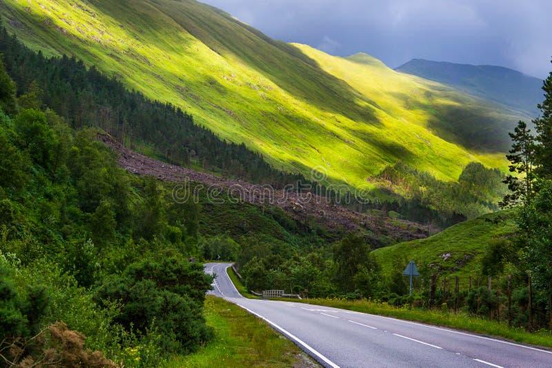Camino escocés imagen de archivo libre de regalías