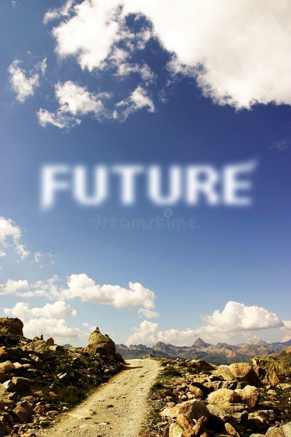 Camino futuro fotografía de archivo