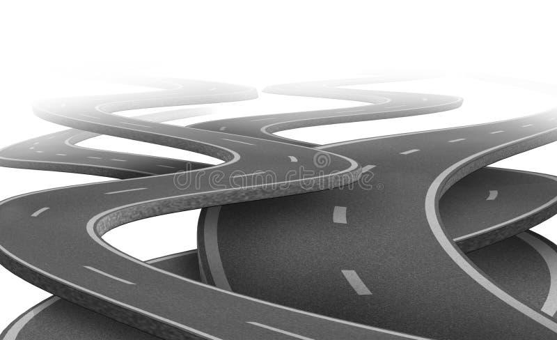 Camino incierto y futuro ilustración del vector