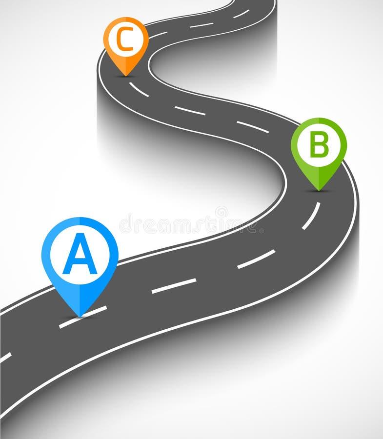Download Camino infographic ilustración del vector. Ilustración de fondo - 42435677