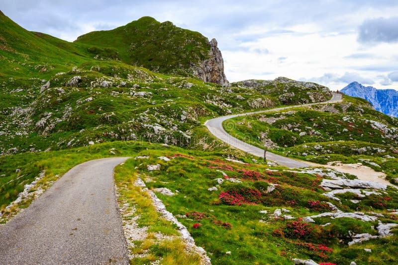 Camino Julian Alps de la montaña imagenes de archivo
