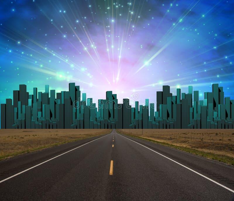 Camino a la ciudad libre illustration