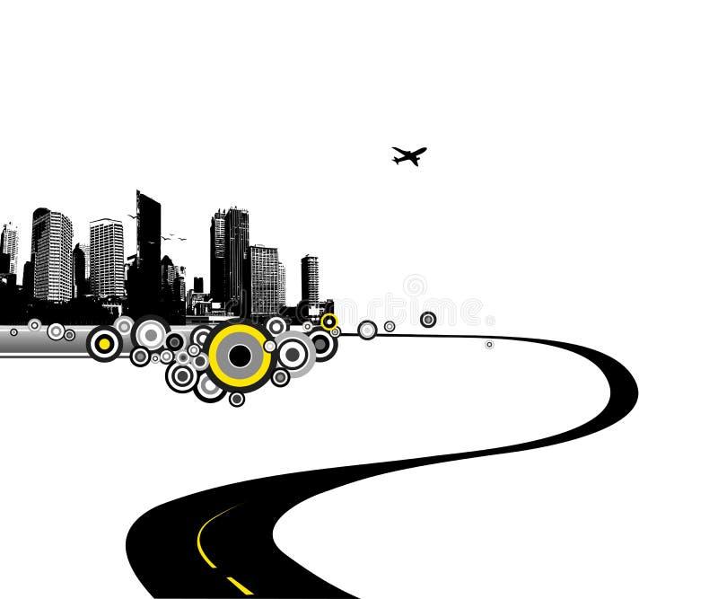 Camino a la ciudad ilustración del vector