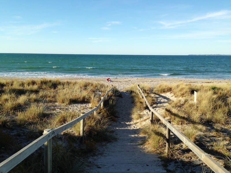 Camino a la playa fotografía de archivo