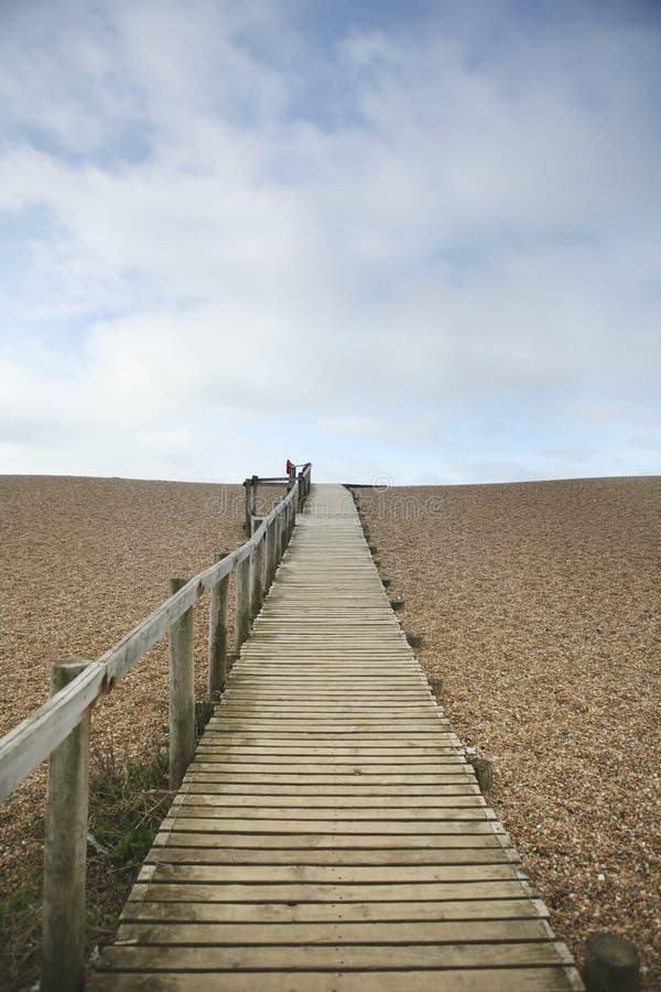 Camino a la playa; dirección futura fotografía de archivo