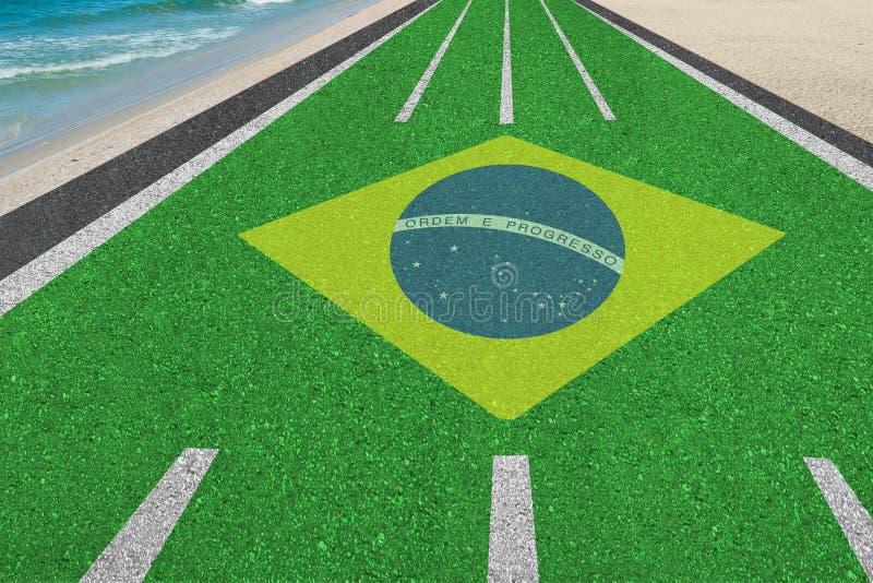 Camino a los Juegos Olímpicos del Brasil en Río fotografía de archivo