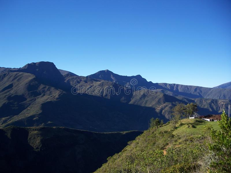 Camino a & x22; Los Nevados& x22; royalty-vrije stock afbeelding