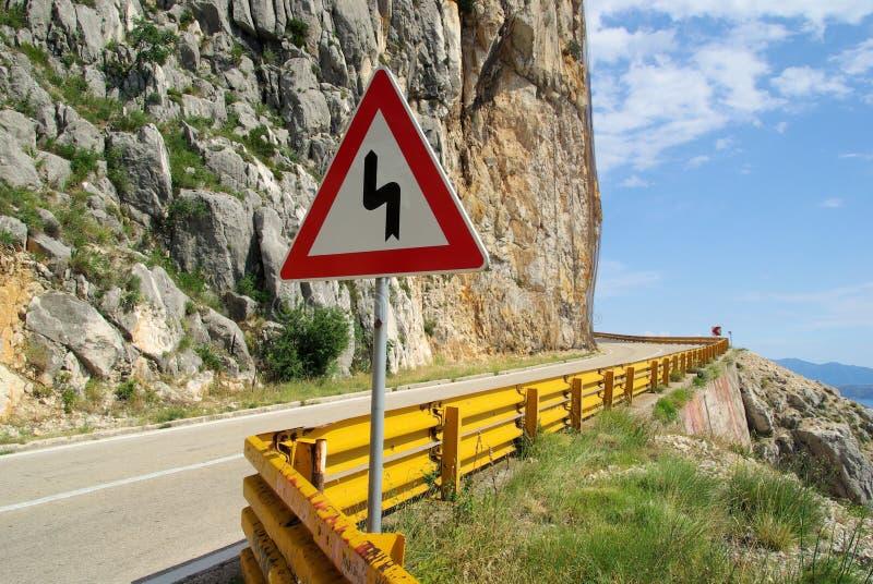 Camino Makarska de la costa fotografía de archivo
