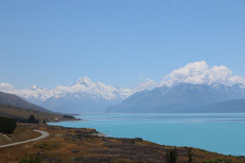 Camino a Mt Cocinero, Nueva Zelanda fotos de archivo libres de regalías