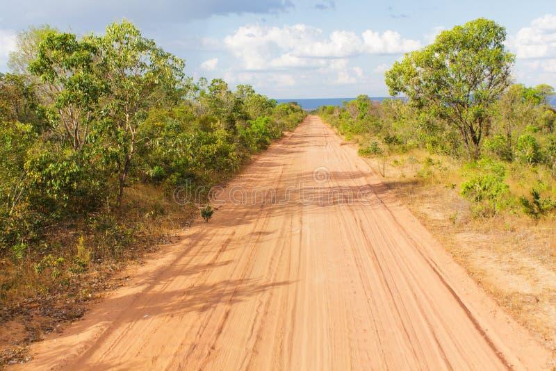 Camino no asfaltado fotografía de archivo