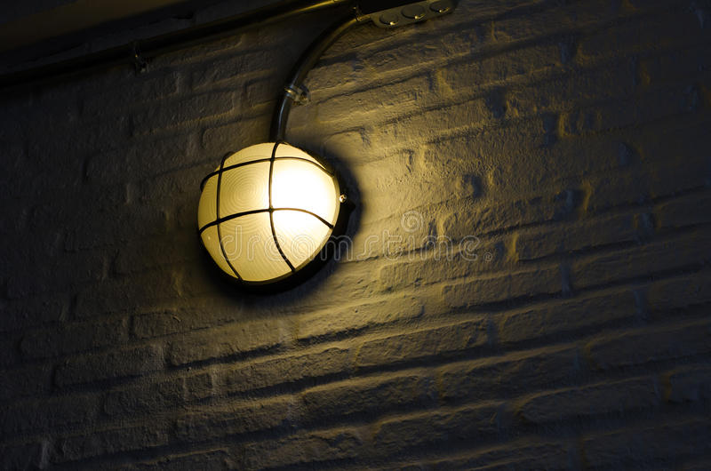 Camino o luz de la pared para construir o la casa foto de archivo libre de regalías
