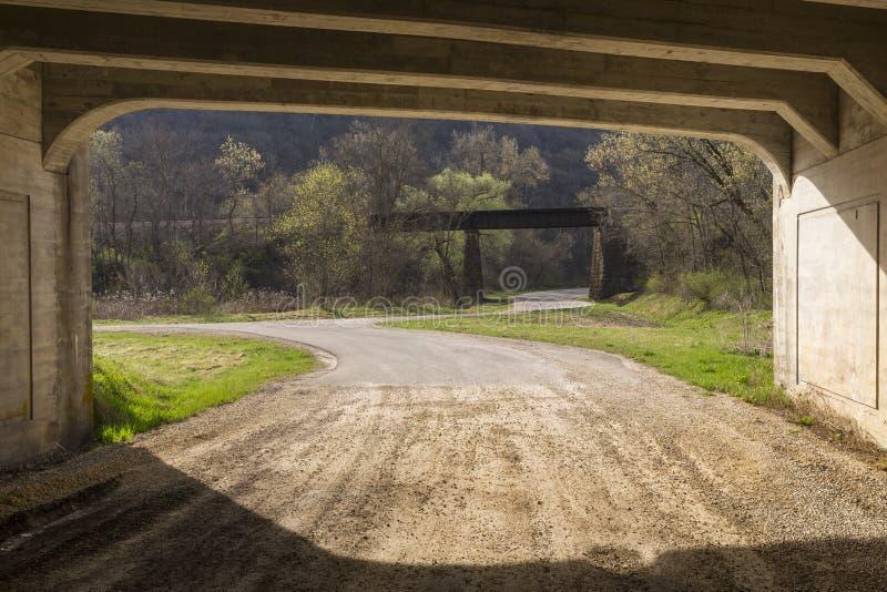 Camino para railroad el puente imagen de archivo