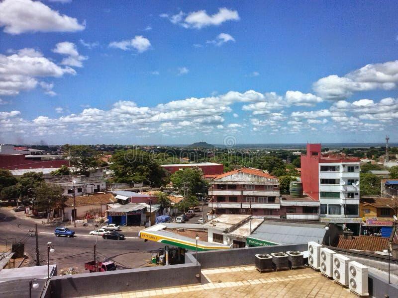 Camino. Paraguay Asuncion centro de la cuidad stock images