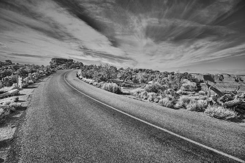 Camino pintoresco al punto del caballo muerto, Utah foto de archivo