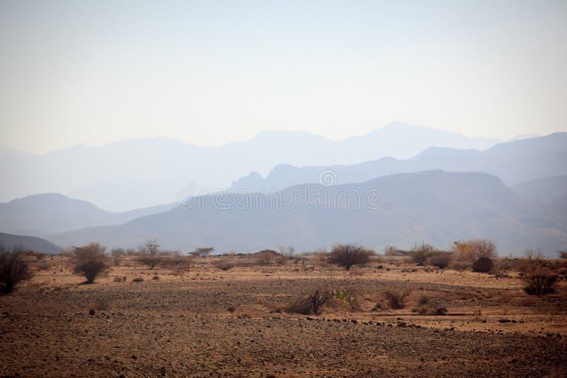 Camino pintoresco en la región de Tigray fotos de archivo