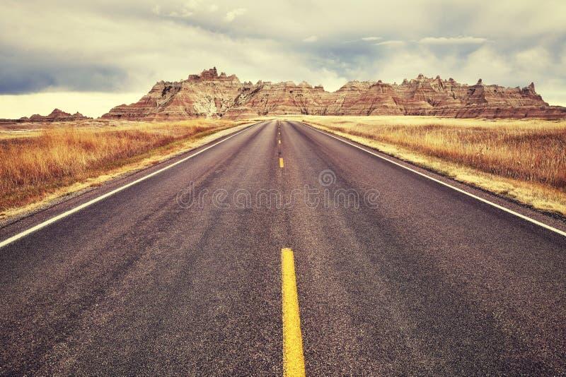 Camino pintoresco, fondo del concepto del viaje foto de archivo libre de regalías